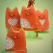 """Подарки к праздникам ручной работы. Ярмарка Мастеров - ручная работа Пряники """"Котики"""". Handmade."""