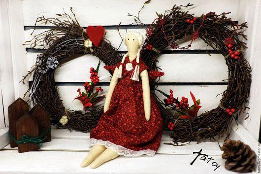 Кукла `Толстуха` ручной работы в стиле тильда. Ta-Toy