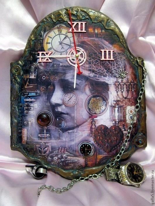 Часы для дома ручной работы. Ярмарка Мастеров - ручная работа. Купить Часы в стиле Стимпанк - 2.. Handmade. Стимпанк, для молодежи