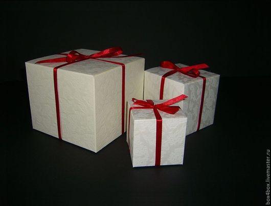 Подарочная упаковка ручной работы. Ярмарка Мастеров - ручная работа. Купить Подарочные коробочки. Handmade. Белый, коробочка для подарка