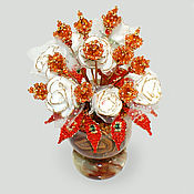 handmade. Livemaster - original item Flowers from amber