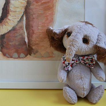 """Куклы и игрушки ручной работы. Ярмарка Мастеров - ручная работа Игрушки: Слонёнок Тедди """"Одри"""". Handmade."""