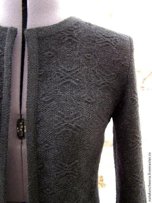 """Пиджаки, жакеты ручной работы. Ярмарка Мастеров - ручная работа. Купить """"Полночь"""" жакет. Handmade. Черный, кардиган, кашгора"""
