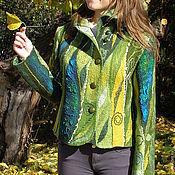 """Одежда ручной работы. Ярмарка Мастеров - ручная работа Жакет по мотивам """"Жаркая осень"""". Handmade."""