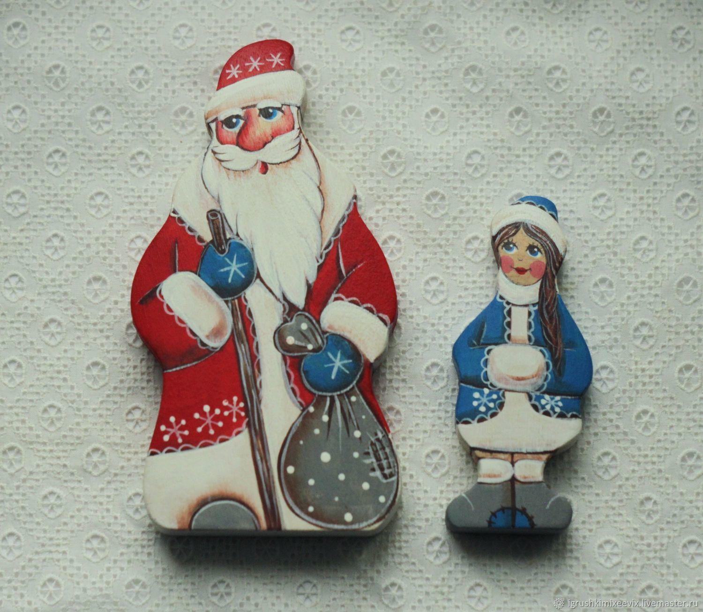 Дед Мороз и Снегурочка статуэтки, Вальдорфские куклы и звери, Смоленск,  Фото №1