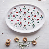 Посуда handmade. Livemaster - original item Poppy meadow. Plate handmade pottery. Handmade.