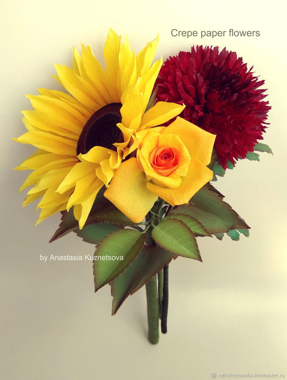 3 video mk from crepe paperflowers chrysanthemum and tea rose teaching materials handmade livemaster handmade buy 3 video mk from crepe paper mightylinksfo