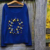 """Одежда ручной работы. Ярмарка Мастеров - ручная работа Свитшот""""Синий"""". Handmade."""