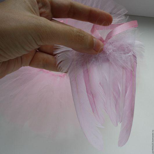 Куклы и игрушки ручной работы. Ярмарка Мастеров - ручная работа. Купить Крылья для кукол РОЗОВЫЕ маленькие. Handmade. Бледно-розовый