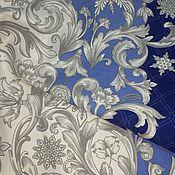 Для дома и интерьера handmade. Livemaster - original item Tablecloth 100% cotton, blue with patterns. Handmade.