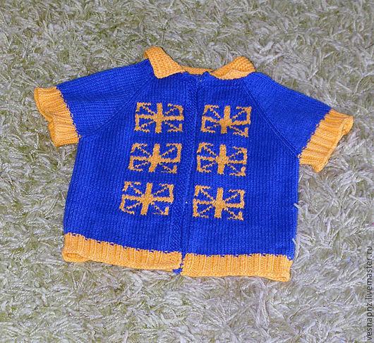 Одежда унисекс ручной работы. Ярмарка Мастеров - ручная работа. Купить Вязаный детский жилет с оберегами. Handmade. Орнамент, жилет