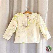 """Рубашки ручной работы. Ярмарка Мастеров - ручная работа Детская рубашка """"Зайчик"""". Handmade."""