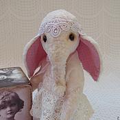Куклы и игрушки ручной работы. Ярмарка Мастеров - ручная работа Слоняшка Зефирка. Handmade.