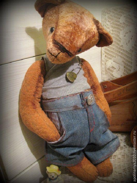 Мишки Тедди ручной работы. Ярмарка Мастеров - ручная работа. Купить Барни...мишка-тедди. Handmade. Мишка, коричневый