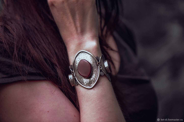 Bracelets with lapis lazuli, jade, carnelian, enamel stones, Hard bracelet, Moscow,  Фото №1