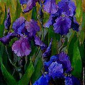 Картины и панно handmade. Livemaster - original item 24на30 painting Irises oil on canvas Flowers. Handmade.