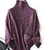 Одежда handmade. Livemaster - original item A cashmere sweater with high collar. Handmade.