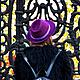 Шляпы ручной работы. Шляпка ручной работы. KiEra. Интернет-магазин Ярмарка Мастеров. Бардовый, шерсть меринос