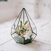 Растения ручной работы. Ярмарка Мастеров - ручная работа Декоративная композиция в геометрической форме. Handmade.