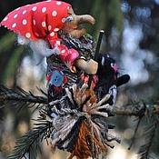 """Подарки к праздникам ручной работы. Ярмарка Мастеров - ручная работа """"Баба-Яга и кот"""". Handmade."""