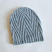 Аксессуары handmade. Livemaster - original item Knitted hat made of wool with Alpaca