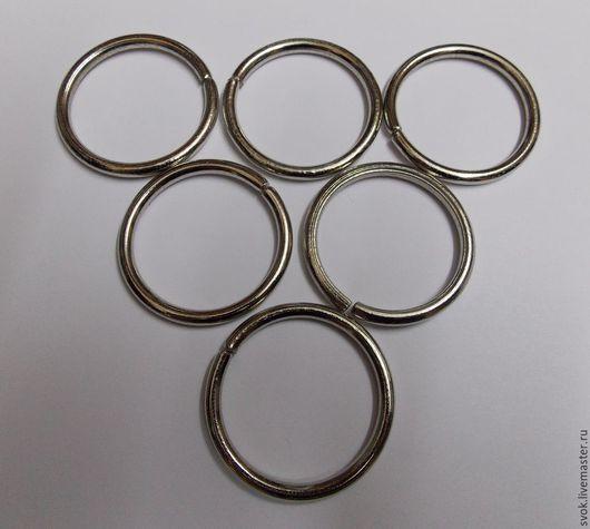 Шитье ручной работы. Ярмарка Мастеров - ручная работа. Купить Кольцо металлическое, 38 мм, цвет никель, фурнитура для сумок. Handmade.