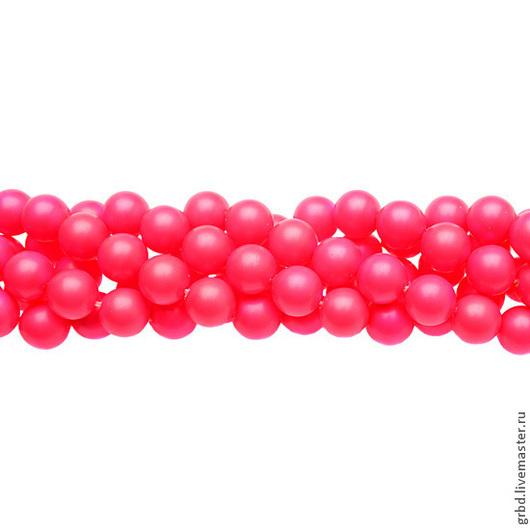 Для украшений ручной работы. Ярмарка Мастеров - ручная работа. Купить Жемчуг Сваровски 8 мм 5810 Neon pink (08-732). Handmade.