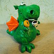 Куклы и игрушки ручной работы. Ярмарка Мастеров - ручная работа Дракончик кофеман и сладкоежка. Handmade.