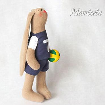 Куклы и игрушки ручной работы. Ярмарка Мастеров - ручная работа Зайки волейболисты. Handmade.