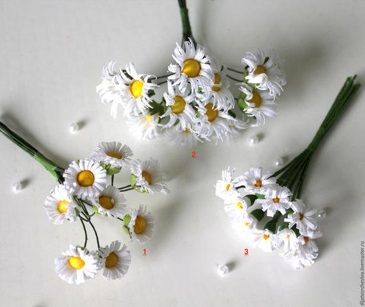 Материалы для флористики ручной работы. Ярмарка Мастеров - ручная работа. Купить Букет ромашек - искусственные цветы для флористики. Handmade. Белый