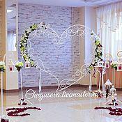 """Оформление зала ручной работы. Ярмарка Мастеров - ручная работа Свадебная арка """"Сердце"""". Handmade."""