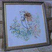 Картины и панно ручной работы. Ярмарка Мастеров - ручная работа Девушка и лошадь. Handmade.
