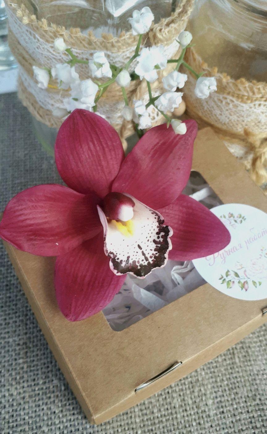 Орхидея бордовый цимбидиум, Заколки, Липецк,  Фото №1
