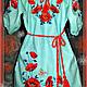 """Одежда для девочек, ручной работы. Ярмарка Мастеров - ручная работа. Купить Платье для девочки """"Машенька"""". Handmade. Мятный, маки"""