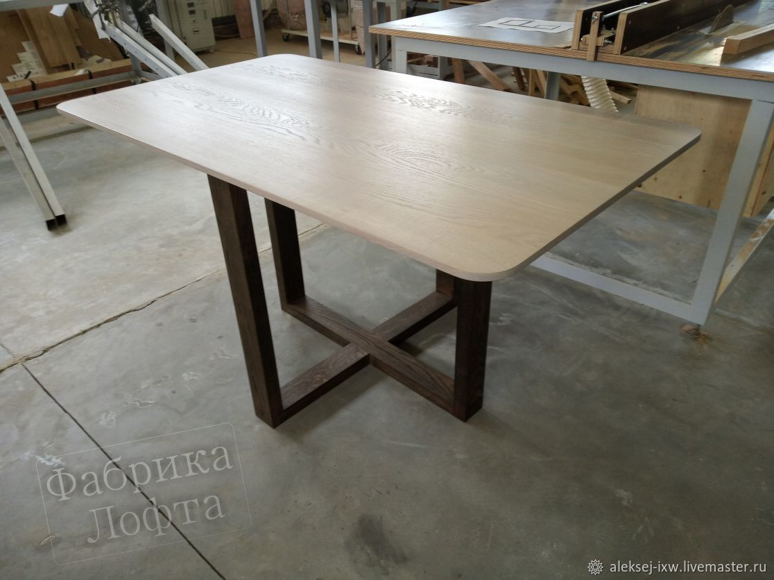 Table made of solid oak 800h1400 mm, Tables, Moscow,  Фото №1