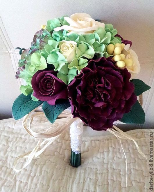 """Свадебные цветы ручной работы. Ярмарка Мастеров - ручная работа. Купить Букет невесты """"Экстравагантный"""". Handmade. Букет цветов"""
