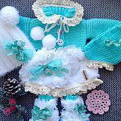 """Куклы и игрушки ручной работы. Ярмарка Мастеров - ручная работа Комплект одежды для куклы """"Бирюзовый"""". Handmade."""