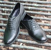 Обувь ручной работы handmade. Livemaster - original item Shoes classic men`s leather matte Black. Handmade.