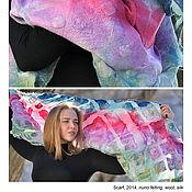 Аксессуары ручной работы. Ярмарка Мастеров - ручная работа Дизайнерский шарф ручной работы геометричный. Handmade.