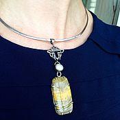 Украшения ручной работы. Ярмарка Мастеров - ручная работа Серебряный кулон с яшмой. Handmade.