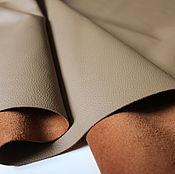 Материалы для творчества handmade. Livemaster - original item genuine leather of cattle. madras. Light brown. 0,9-1,1 mm.. Handmade.