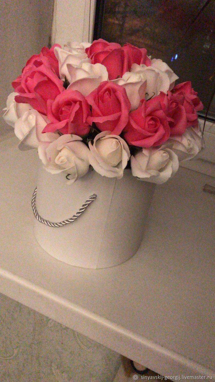 цветы в шляпной коробке, Букеты, Москва,  Фото №1