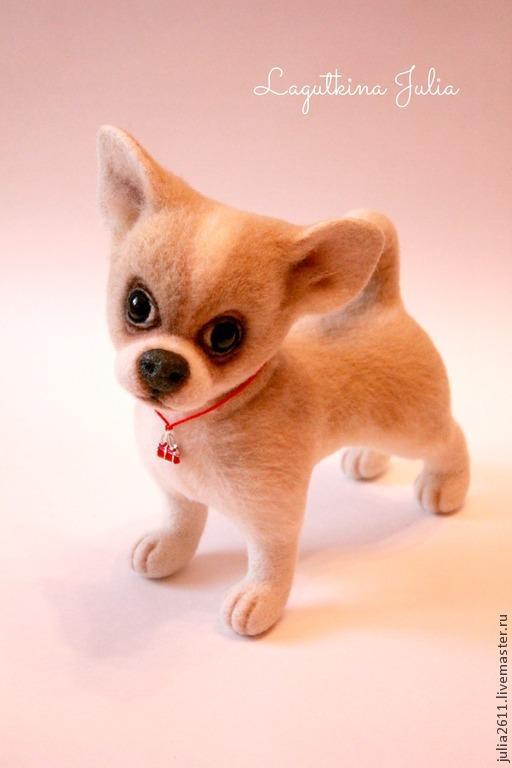 """Игрушки животные, ручной работы. Ярмарка Мастеров - ручная работа. Купить Собака чихуахуа """"Герда"""". Handmade. Бежевый, игрушка из войлока"""