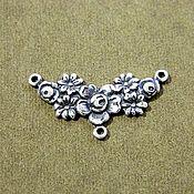 Материалы для творчества handmade. Livemaster - original item Accessories from the USA Sprig pendant brass, oxidized silver. Handmade.