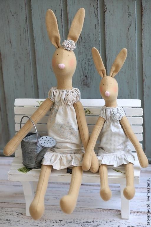 Куклы Тильды ручной работы. Ярмарка Мастеров - ручная работа. Купить Пасхальные Кролики Тильда. Handmade. Тильда, пасхальный подарок
