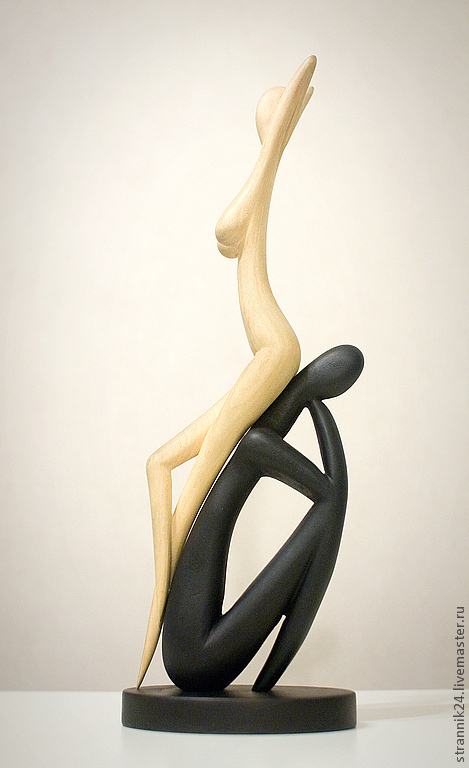 """Статуэтки ручной работы. Ярмарка Мастеров - ручная работа. Купить """"Стерва"""" скульптура из дерева. Handmade. Чёрно-белый, двое, отношения"""