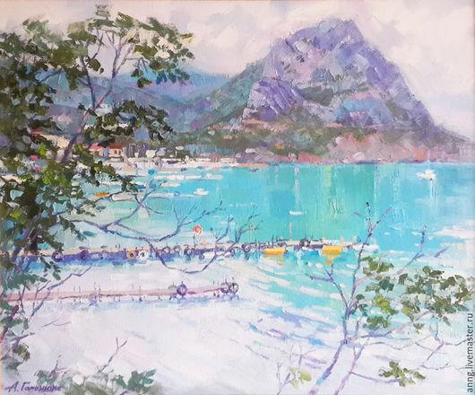"""Пейзаж ручной работы. Ярмарка Мастеров - ручная работа. Купить Картина маслом """"Новый свет"""", море, крымский пейзаж, морской пейзаж. Handmade."""