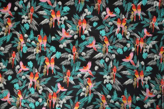 """Шитье ручной работы. Ярмарка Мастеров - ручная работа. Купить Неопрен """"Райские птицы"""". Handmade. Ткани для рукоделия, одежда для женщин"""