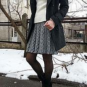 """Одежда ручной работы. Ярмарка Мастеров - ручная работа Вязаная юбка """"Серебристые араны"""". Handmade."""