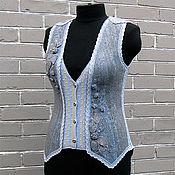Одежда handmade. Livemaster - original item Felted vest lake surface.. Handmade.